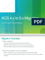ACS 4.x to 5.x Migration