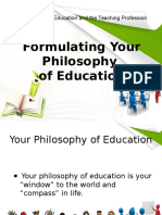 243646291 Formulating Your Philosophy of Education