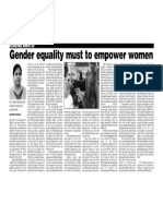 Gender Equality must to Empower Women
