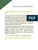 Métodos Analíticos Para La Determinación de Ph y Acidez