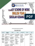 Yearly Scheme of Work Year 6 Prepared by Siti Rohayati - For Merge