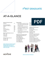 First Graduate At-A-Glance