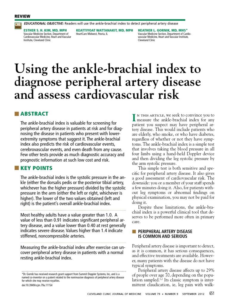 Ancle Brachial Index 1 | Cardiovascular Diseases | Blood
