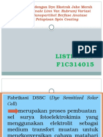 Fabrikasi Dssc dengan Dye Ekstrak Jahe Merah (.pptx