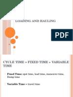 Laoding & Hauling Report