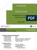 Peoplesoft Financials Implementation