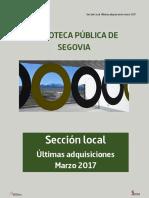 Novedades Sección Local marzo 2017