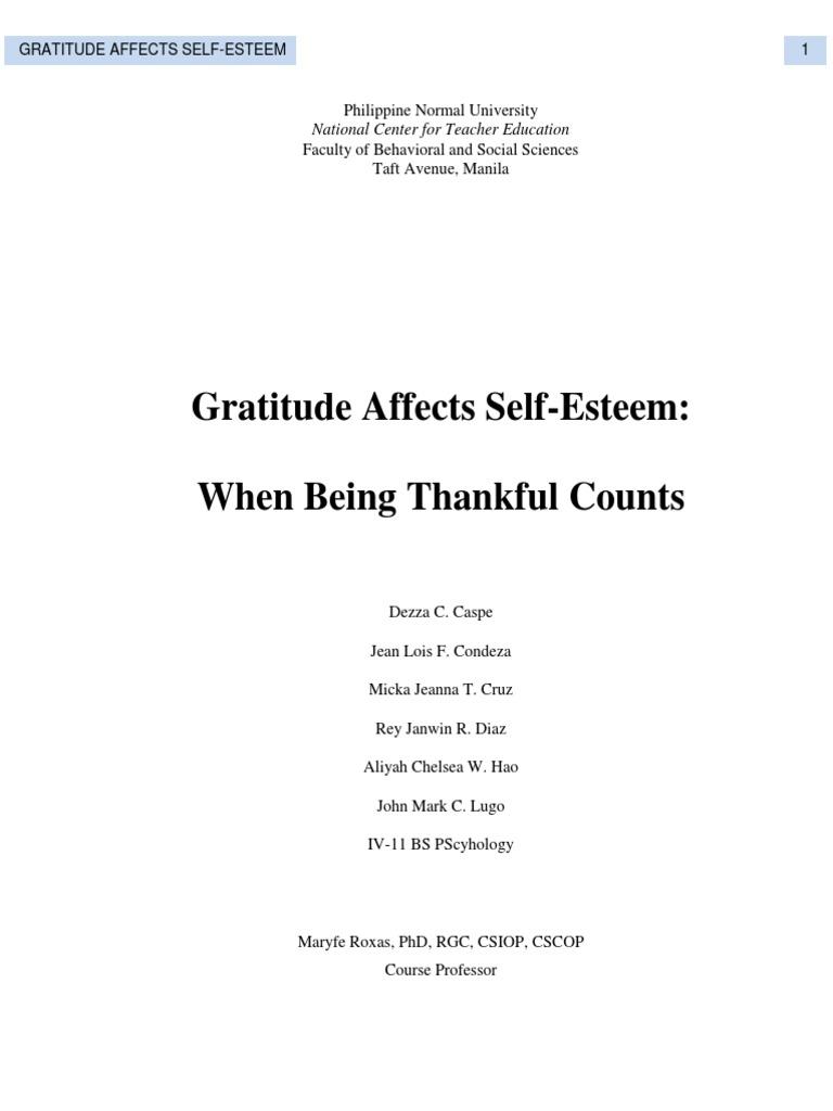 Final Gratitude Self Esteem