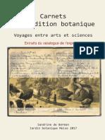 Catalogue (extraits) Expo « Carnets d'expédition botanique, voyage entre arts et sciences »