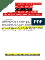 2 Pp JUDICIAL TRASH Crooked Judge Charlene E Honeywell