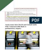 Suzi Burge Case with the Commonwealth Bank of Australia