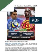 Prediksi Rostov vs Manchester United 10 Maret 2017