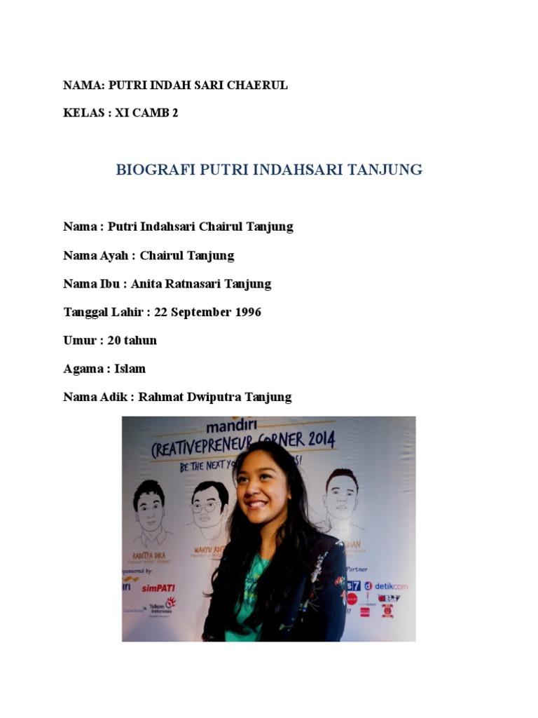 Biografi Putri Indahsari Tanjung