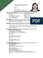 Krystel Dela Pena Resume (1)