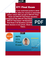 OPS 571 Final Exam