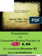 Cosumer Buying Process(Air conditioner)