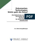 [DE] Dokumententechnologien - Wohin geht die Reise? | Dr. Ulrich Kampffmeyer | 1. Auflage 2017