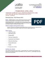 Training Sertifikasi OL-OM-JB-APB Semarang-Cepu 18-24 Februari 2012