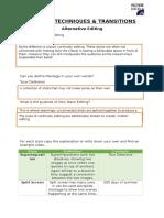alternative editing handout