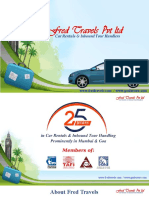 Fred Travels Pvt Ltd Car Rentals and Inbound Tour Handlers