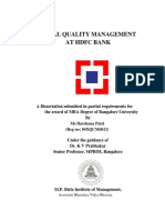 55978660 HDFC Project on TQM