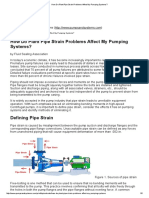 How Do Plant Pipe Strain Problems Affect My Pumping Systems