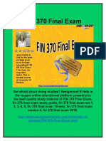 FIN 370 Final Exam