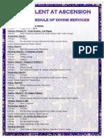 2017 Lenten Services