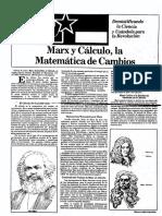 Marx y Calculo Septiembre 1987