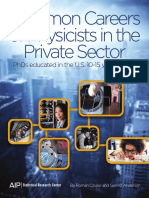Common Careers of Physicists in the Private Sector