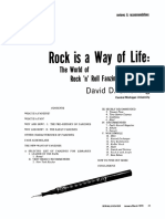 Rock is a way of life