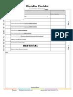 Discipline Checklist