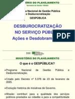 Desburocratização no Serviço Público