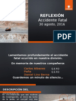 Reflexión Accidente fatal 30 08 2016