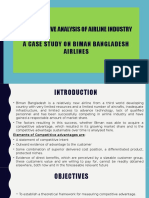 A Competitive Analysis of Airline Industry