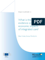 What is the Evidence on the Economic Impacts of Integrated Care