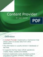 12 Content Provider