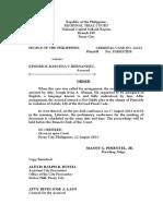 Order of Pre-trial