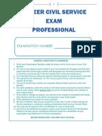 Career Civil Service Examination