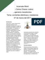 Corriente Eléctrica y Resistencia