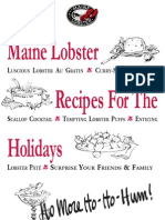 Maine Lobster Promo Council Recipes for the Holidays