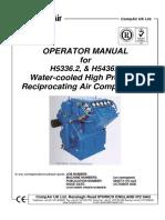 Compair 5336 5436 Mk2 Operator Manual