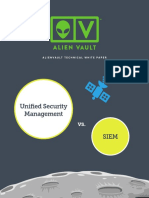 USM vs SIEM AlienVault White Paper