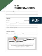 Libro de Secretaria de Conquistadores 2017