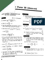 Frank ISC Mathematics Model Test Paper 20