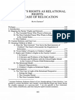Childrens Rights as Relational Rights- The Case of Relocation