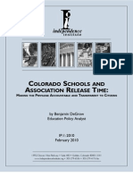 Colorado Schools and Association Release Time