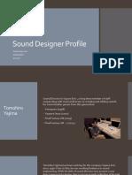 Sound Designer Profile Yajima