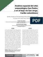 Análisis Espacial Del Sitio Arqueológico San Pedro%2c Ubicado en El Bajo Río San Jorge%2cCaribe Colombiano
