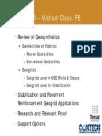 Michael Close - Geosynthetics
